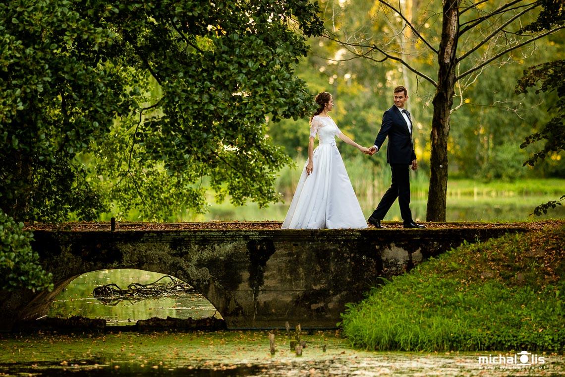 Poślubna sesja plenerowa w Nieborowie